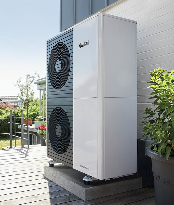 aroTHERM plus positioned outside