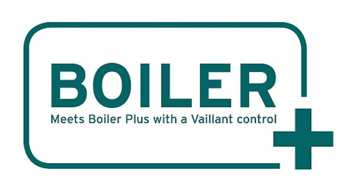 Meets boiler plus with a Vaillant control logo