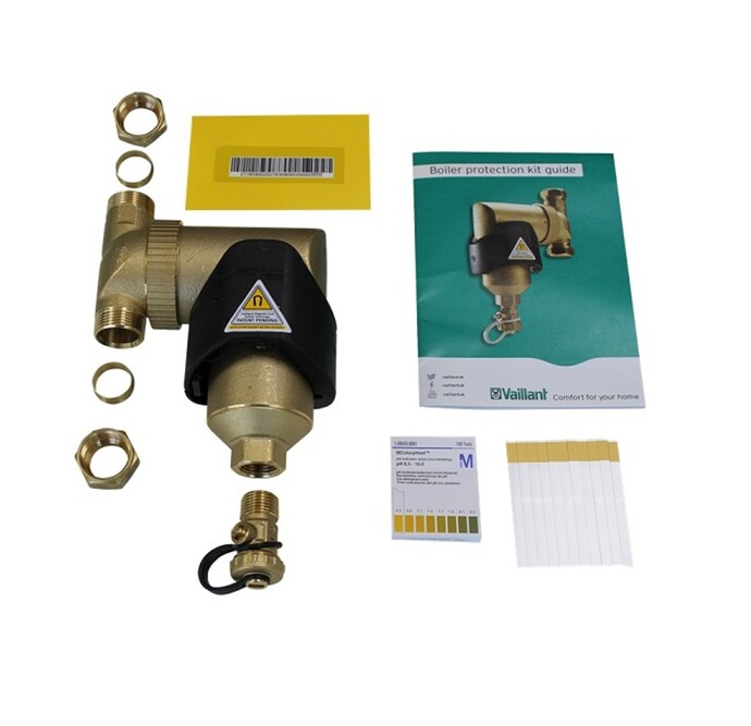 Image of an unpacked boiler protection kit
