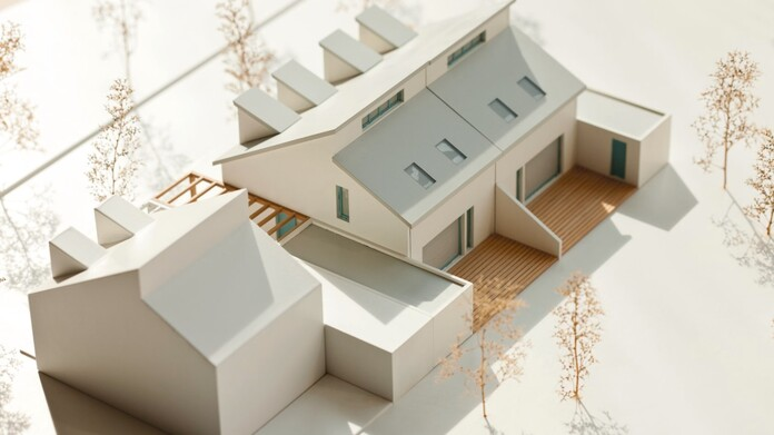 Architectural model of a house