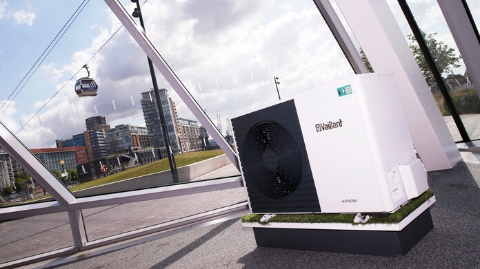 aroTHERM heat pump in The Crystal building
