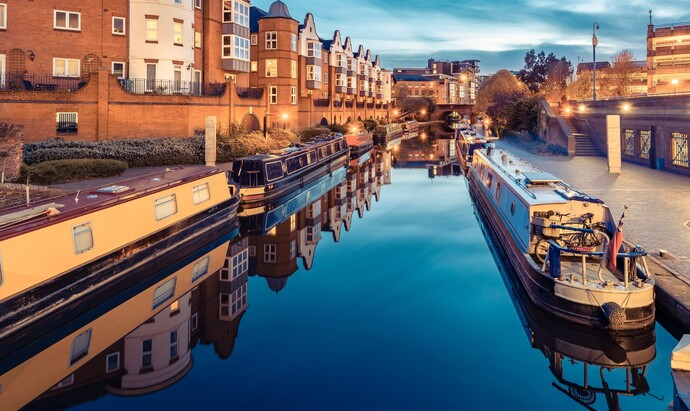 Birmingham Canal in the evening