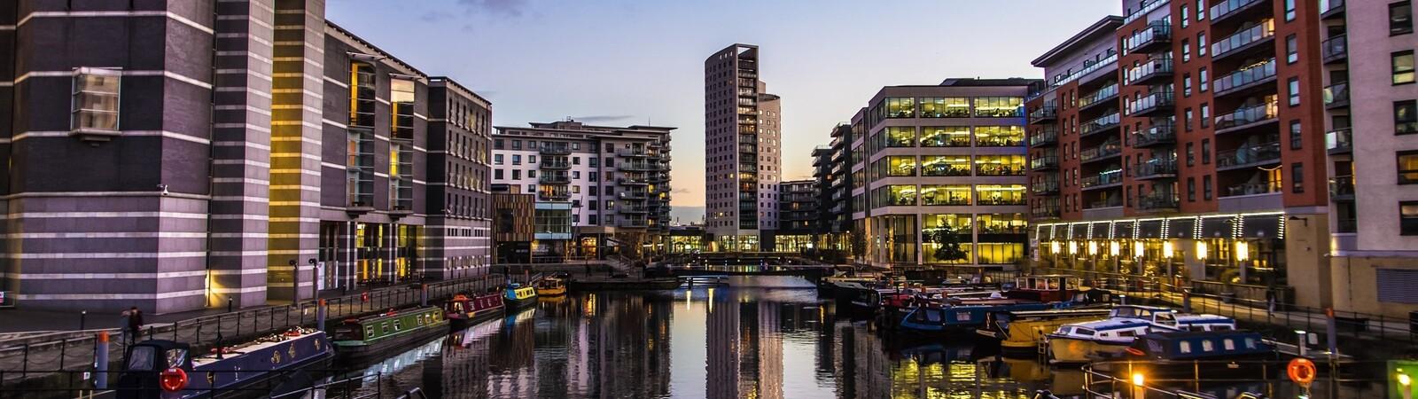 Clarence Dock in Leeds UK