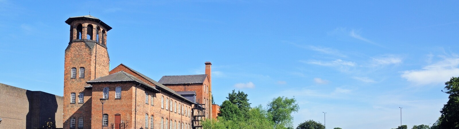 Derby Silk Mill next to the river Derwent