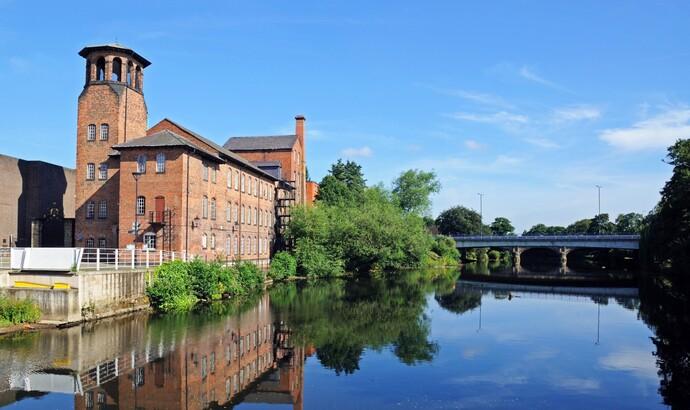 Derby Silk Mill next to the River Derwent