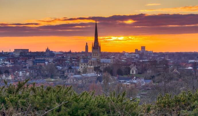Norwich city skyline