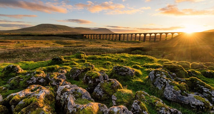 Ribblehead Viaduct in the Yorkshire Dales