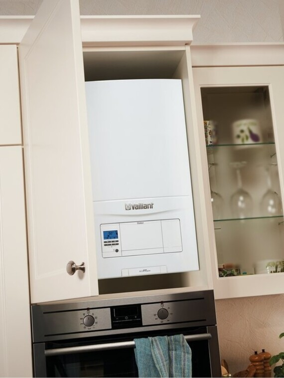 ecoFIT pure in a cupboard sitauated in the kitchen