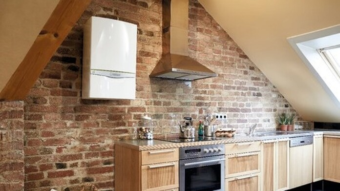 ecoTEC exclusive with Green iQ system boiler in the kitchen
