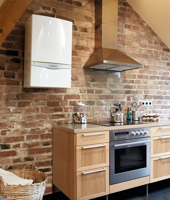 ecoTEC exclusive with Green iQ situated in a kitchen