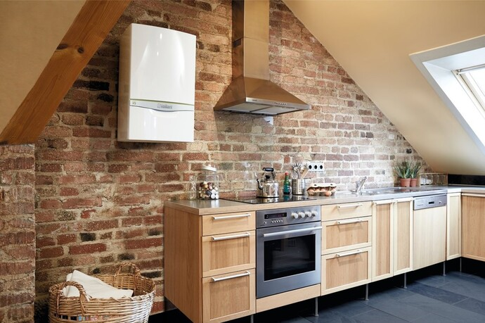 ecoTEC exclusive boiler fit in a modern kitchen