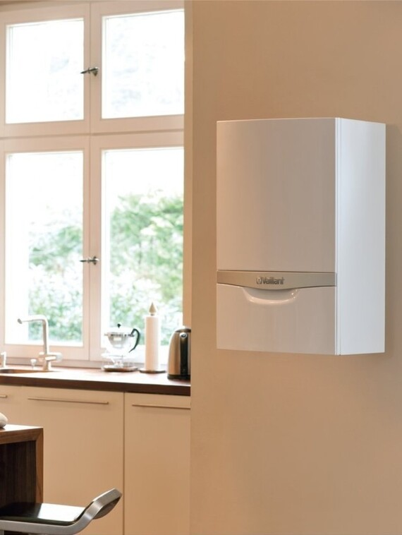 ecoTEC plus boiler situated in the kitchen