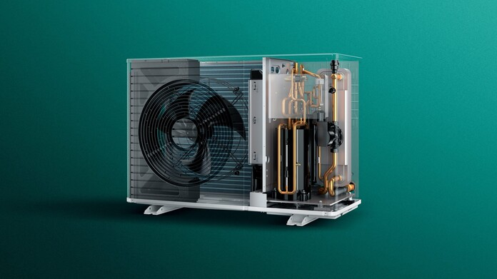 X-ray view of the aroTHERM plus air source heat pump