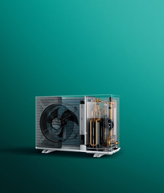 Air-to-water heat pump aroTHERM plus X-Ray view